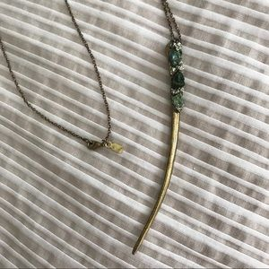 Marly Moretti long natural stone nugget necklace